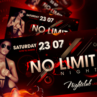 No Limit Night Party Flyer