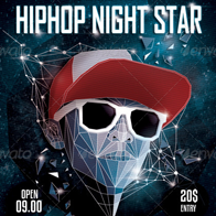 HipHop Night Star Flyer Poster