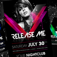 Release Me Party Flyer